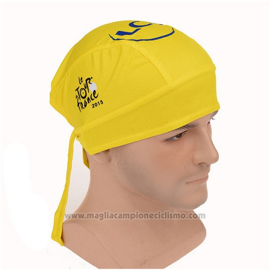 2015 Tour de France Bandana Ciclismo Giallo