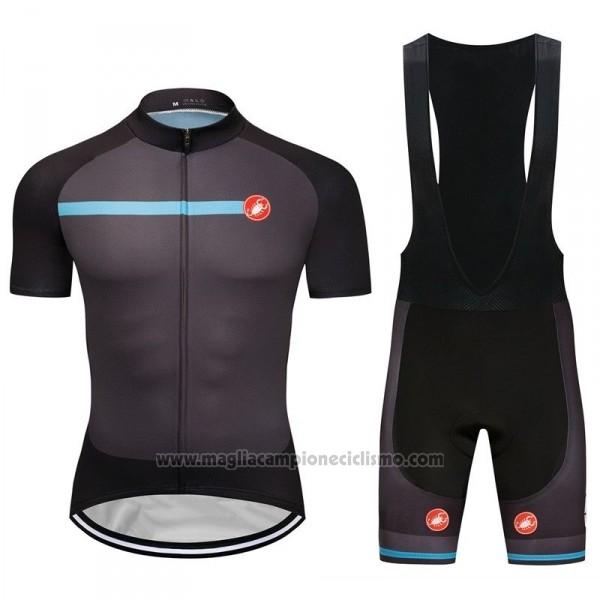 2018 Abbigliamento Ciclismo Castelli Spento Grigio Manica Corta e Salopette f5a99b9085c