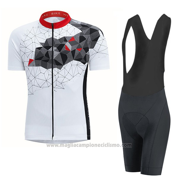 2017 Abbigliamento Ciclismo Gore Bike Wear Power Mountain Bianco Manica Corta e Salopette