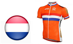 Maglia Nazionali Paesi Bassi Ciclismo 2018